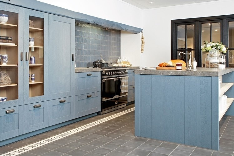 Blauwe keukens qasa.nl