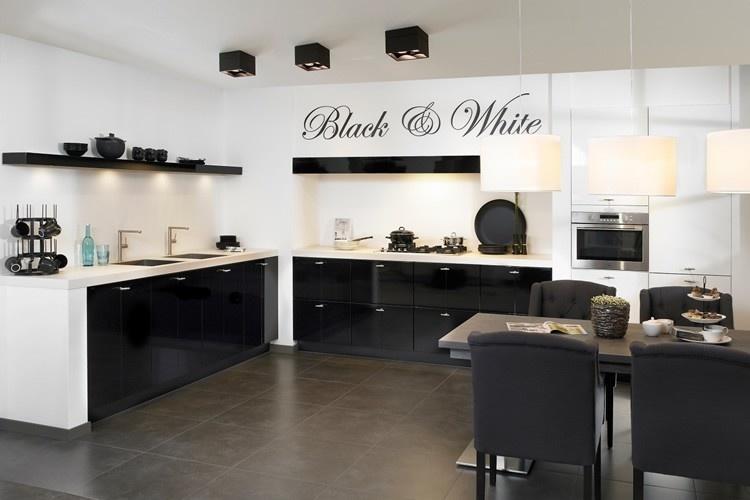 Keuken Zwart Wit : Voorbeelden van zwarte keukens