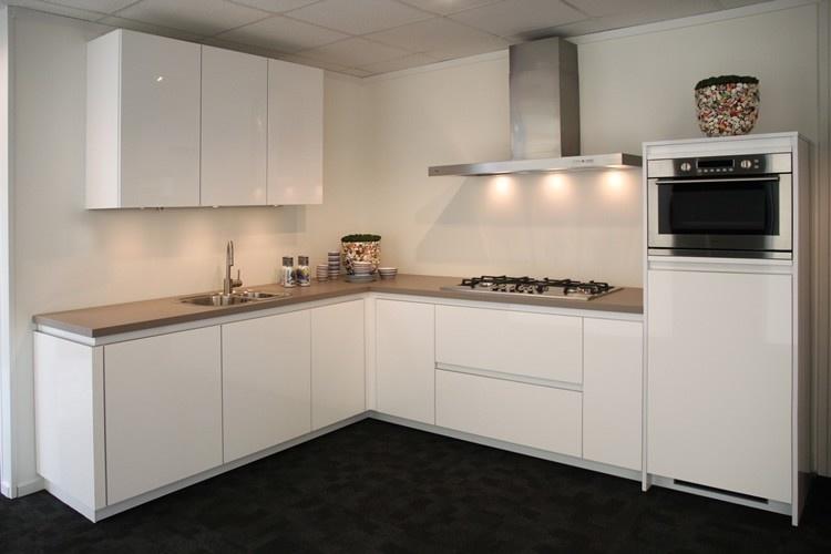 Keuken u00bb Witte Keuken Grijs Blad - Inspirerende fotou0026#39;s en ideeu00ebn van ...