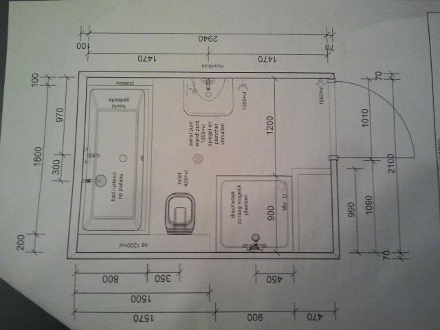 tekening badkamer maken ~ het beste van huis ontwerp inspiratie, Badkamer